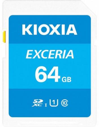 KIOXIA 64GB normalSD EXCERIA UHS1 R100 (LNEX1L064GG4)