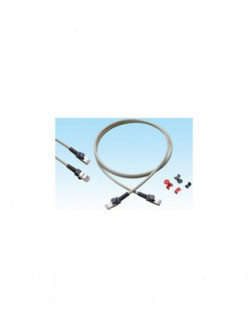 Cat6A S/FTP Patch Cord LSOH 1m Gri