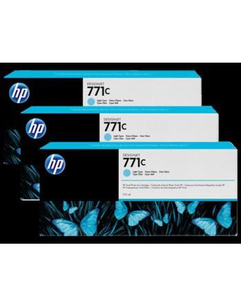 HP No 770 775ml 3'lü Paket Açık Mavi Kartuş (B6Y36A)