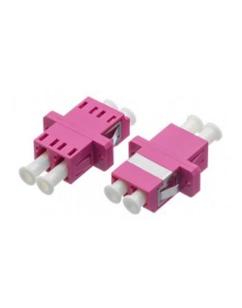 LC Duplex MM OM4 Plastik Adaptör Mor