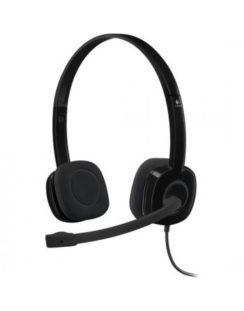 LOGITECH H151 Kablolu Mikrofonlu Siyah Stereo Tek...