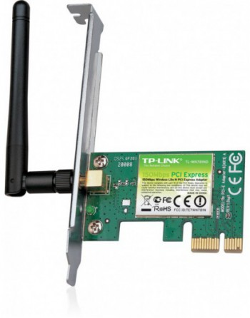 TP-LINK 150Mbps 1xDeğiştirilebilir Antenli PCI...