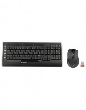 A4 TECH Kablosuz Q TR Multimedya Klavye Mouse Set...