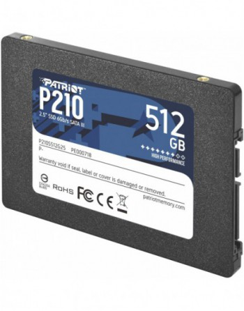 "PATRIOT 512GB P210 Sata 3.0 520-430MB/s 7mm 2.5""..."