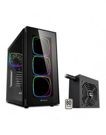 SHARKOON TG6 RGB MIDI TOWER Kasa + 650W 80+ ATX Güç...