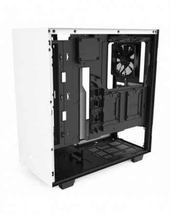 NZXT H510i Compact Mid Tower White/Black Chassis...