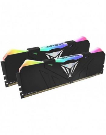 PATRIOT 16GB (8GBx2) 4133MHz Viper DDR4 RGB Black...