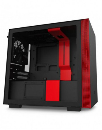 NZXT H210 Mini ITX Black/Red Chassis with 2x 120mm...