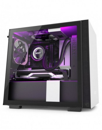 NZXT H210i Mini ITX White/Black Chassis with Smart...