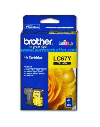 BROTHER 325 Sayfa Sarı Kartuş (LC67Y)