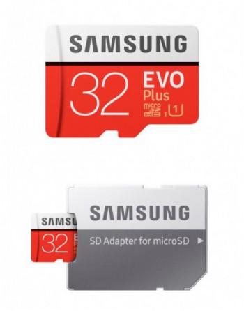 SAMSUNG 32GB Evo Plus 80MB/s Class 10 UHS-1 Micro SD...