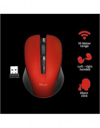 TRUST MYDO Silent Kablosuz Mouse Kirmizi (21871)