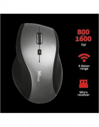 TRUST SURA 1600DPI Kablosuz Siyah-Gümüş Mouse (19938)