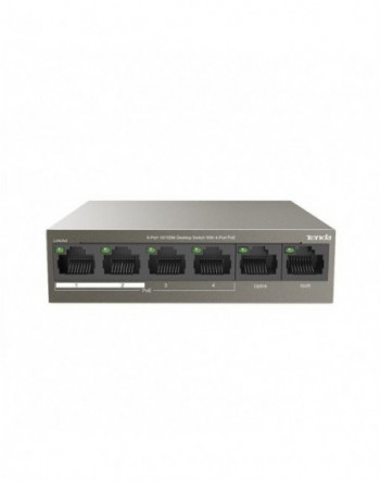 TENDA 6-Port 10/100M 4-Port PoE Switch (TEF1106P-4-63W)