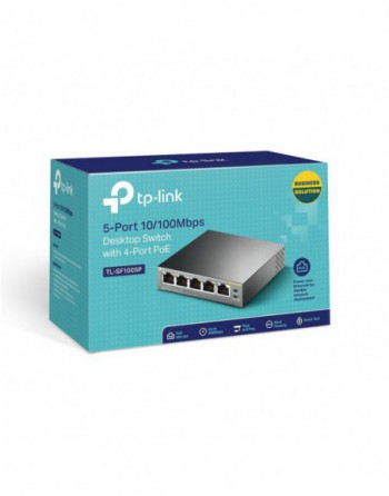TP-LINK 5 Port 10/100Mbps Switch 4 Port Poe...
