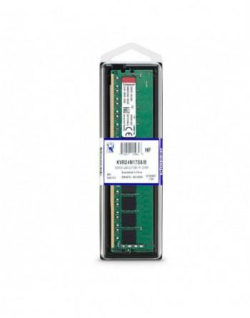 KINGSTON 8GB 2400MHz DDR4 Masaüstü Ram (KVR24N17S8-8)