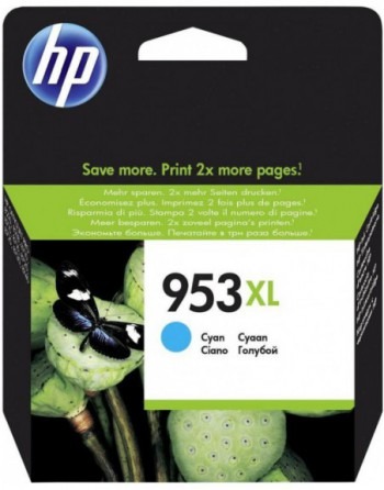 HP No 953Xl Yüksek Kapasiteli Mavi Kartuş (F6U16A)