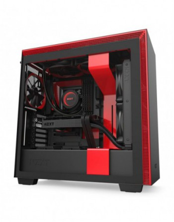 NZXT H710 Mid Tower Black/Red Chassis (CA-H710B-BR)