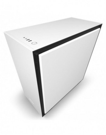 """NZXT """"H710i Mid Tower White/Black Chassis with Smart..."""