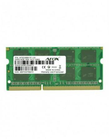 AFOX DIM MEMORY DDR3 8GB 1600Mhz SODIMM (AFSD38BK1P)