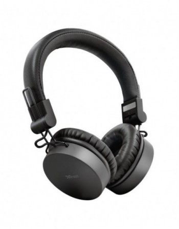 TRUST Tones Bluetooth Wireless Headphones - black...